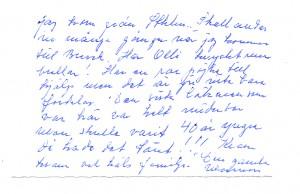 Mormors födelsedagshälsningar baksida maj 1991