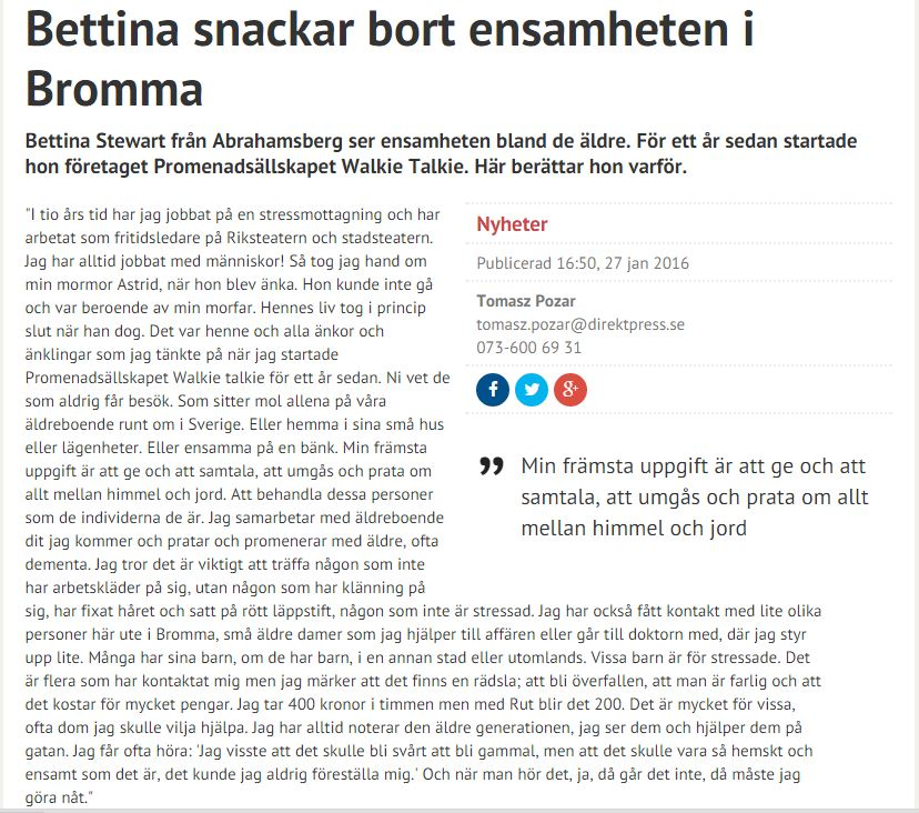 Bettina snackar 2